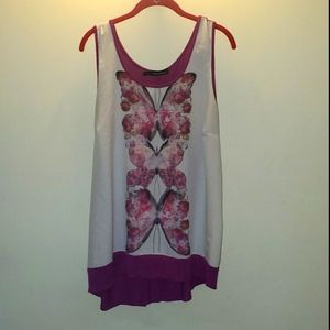 Butterfly High Low Tank Top
